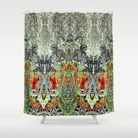 paisley Shower Curtains featuring Paisley by BellagioVista