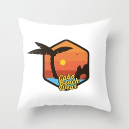 Cabo Beach Wear 3 Throw Pillow