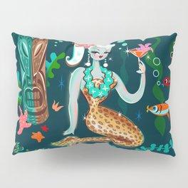 Blonde Leopard Martini Mermaid Pillow Sham