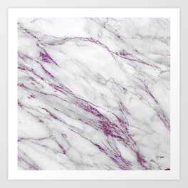 Gray and Ultra Violet Marble Agate Art Print