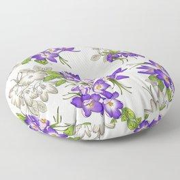 Purple Crocus Floor Pillow