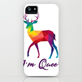 I'm Queer Funny LGBT Rainbow Gay Pride Gift iPhone Case