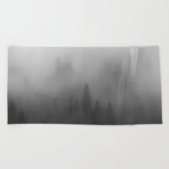 Foggy forrest Beach Towel