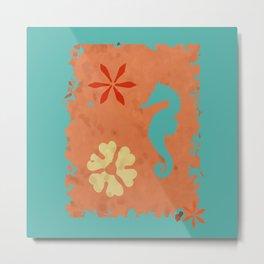 coral sea seahorse Metal Print
