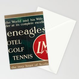 Wanderlust Gleneagles Hotel Golf Tennis LMS Scotland Stationery Cards