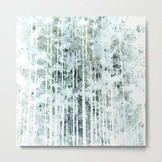 Painterly Woodlands Abstract Metal Print
