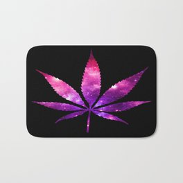 Weed : High Times fuchsia Pink Purple Galaxy Bath Mat