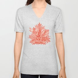 forest floor fire orange ivory Unisex V-Neck