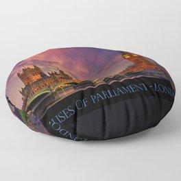Houses of Parliament - London Floor Pillow