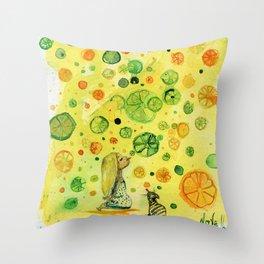 Vitamins Throw Pillow