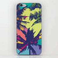palm tree iPhone & iPod Skins featuring Palm tree by PINT GRAPHICS