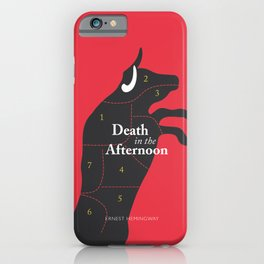 Ernest Hemingway book cover & Poster, Death in the Afternoon, bullfighting stories iPhone Case