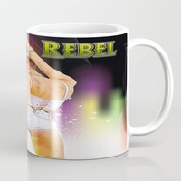 rebel Mugs featuring Rebel by Don Kuing
