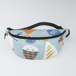 Fish Crowd Fanny Pack