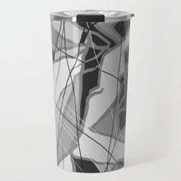 Black abstract 2 Travel Mug