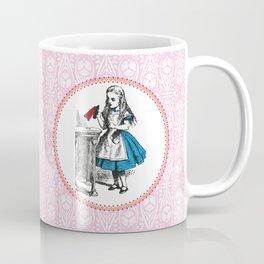 Alice in Wonderland | Drink Me Bottle | Pink Damask Pattern | Coffee Mug
