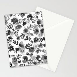 Floret Black and White Stationery Cards