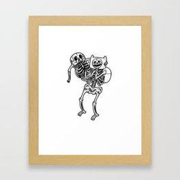 Finn & Jake Bones Framed Art Print