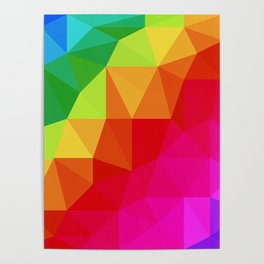 Rainbow Low Poly Poster