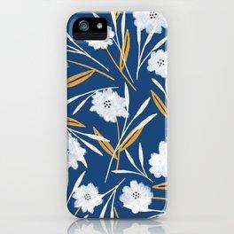 Liza floral (blue) iPhone Case