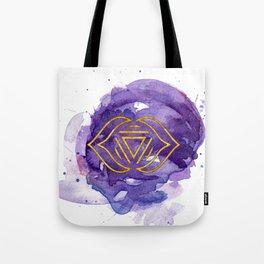 Third Eye Chakra Watercolour Painting Tote Bag
