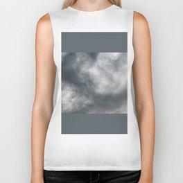 Gloomy billowy sky stormy weather Biker Tank