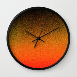 Sunset Dashes Wall Clock
