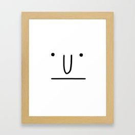 Classic Face Framed Art Print