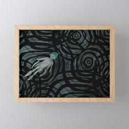'跳下去的一秒 The Moment While Jumping off' Illustration 12 Framed Mini Art Print