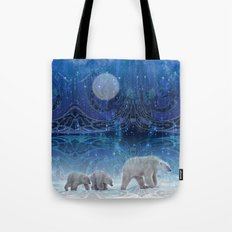 Arctic Journey of Polar Bears Tote Bag