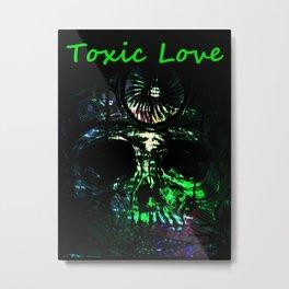 Toxic Love - Sugar Skull Metal Print