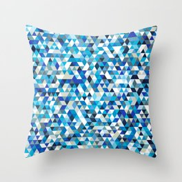 Icy triangles Throw Pillow