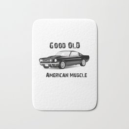 Good Old American Muscle Car Bath Mat