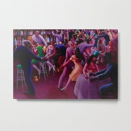 African-American Classical Masterpiece 'Nightlife' by Archibald Motley Metal Print