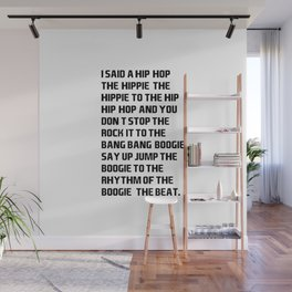 I Said a Hip Hop Hippie to the Hippie Wall Mural