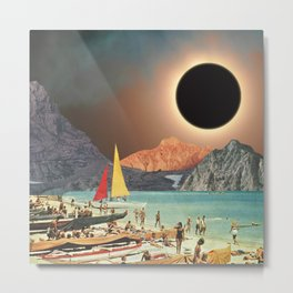 Eclipse Beach Metal Print