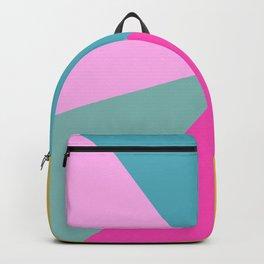 Bold Color Block Design Backpack