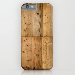Wood Planks Dark iPhone Case