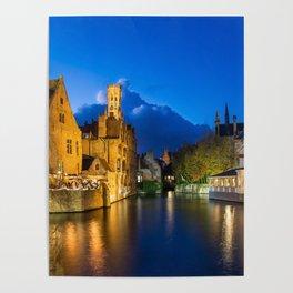Bruges Canal Belgium Poster