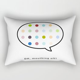 Damien Hirst, outspoken again! Rectangular Pillow