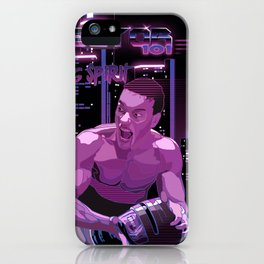 Van Damme vs. Robocop fighting spirit iPhone Case