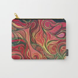 Abstract Red Gold and Black ~New Love Carry-All Pouch