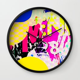 The River Flow - Abstract Pop Art Painting & Comic Wall Clock
