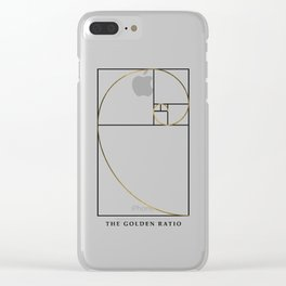 The Golden Ratio Spiral Clear iPhone Case