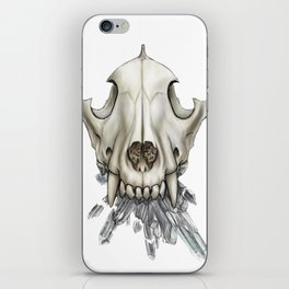 Wolf Skull Crystals iPhone Skin