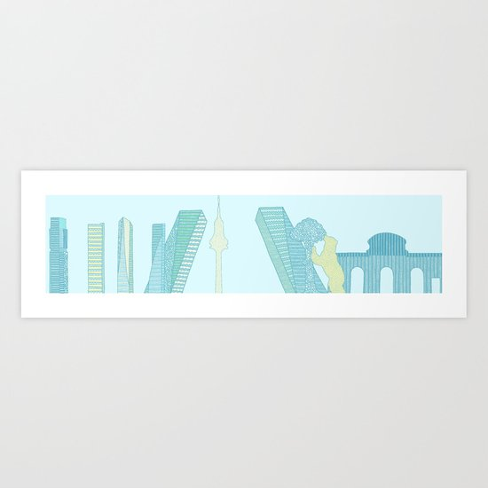 Skyline of Madrid Art Print