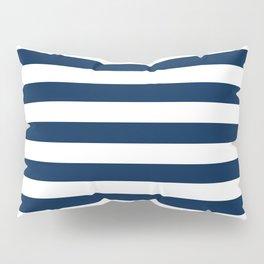 Slate Blue and White Stripes  - Navy Nautical Pattern Pillow Sham