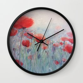 POPPY FIELDS Wall Clock