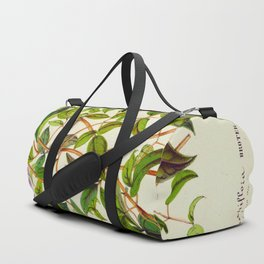 Clematis Campaniflora Vintage Botanical Floral Flower Plant Scientific Illustration Duffle Bag