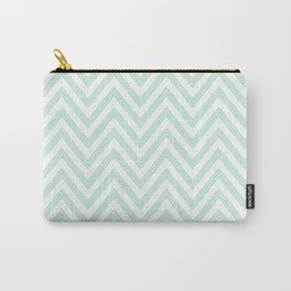 Chevron ZigZag Herringbone pattern - Mint light green I #Society6 Carry-All Pouch